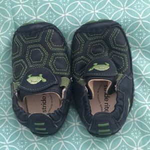 Stride rite turtle baby shoes.